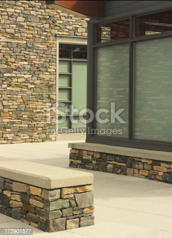 168248826 istock photo Stone Architecture Wall Window Modern Building 172901577