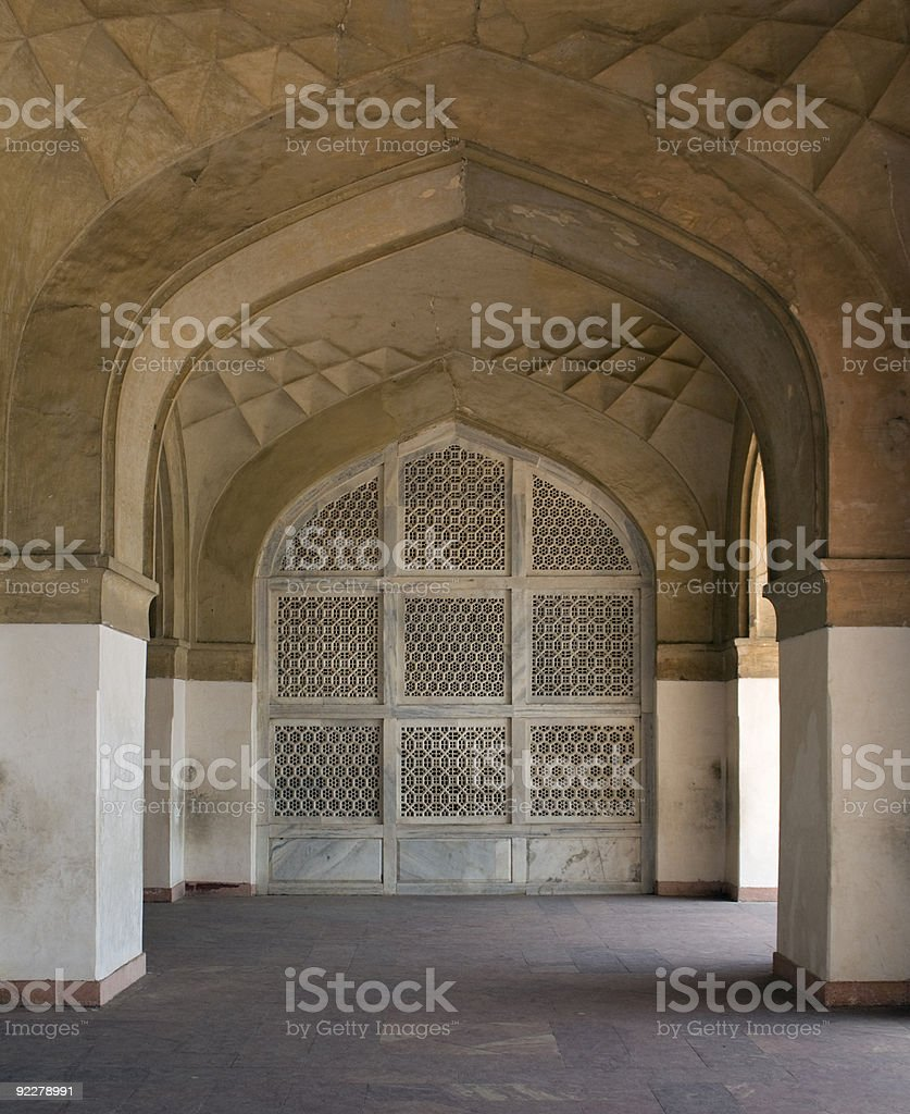 Stone Archs at Sikandra stock photo