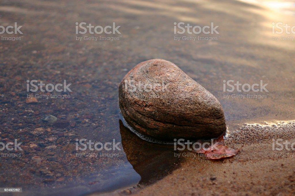 Stone at shore royalty-free stock photo