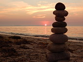 Stone balance and the beauty of nature
