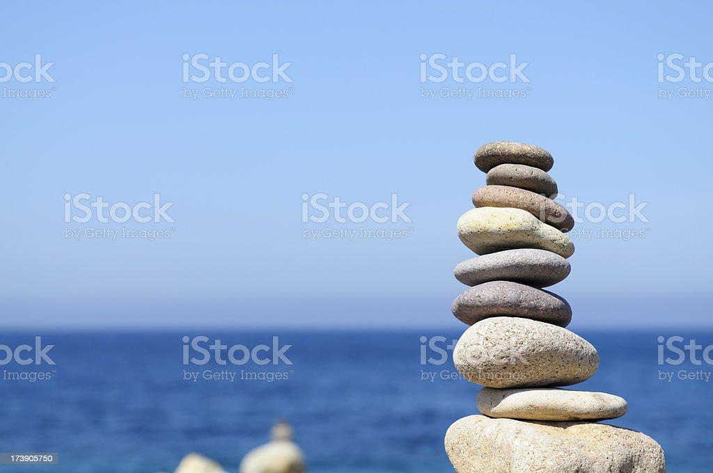 Stone Balance.Copy Space stock photo