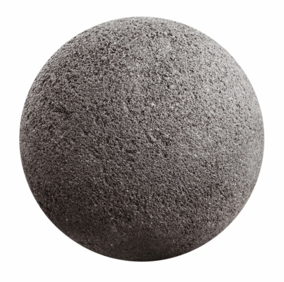Stone ball on the surface pores with a white background