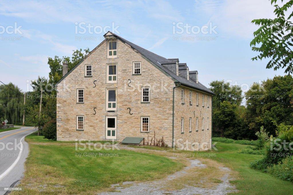 Stone Barn stock photo