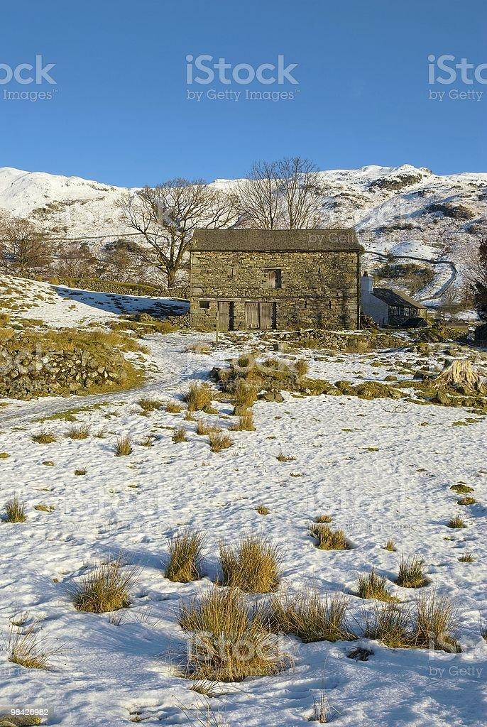 Stone barn royalty-free stock photo