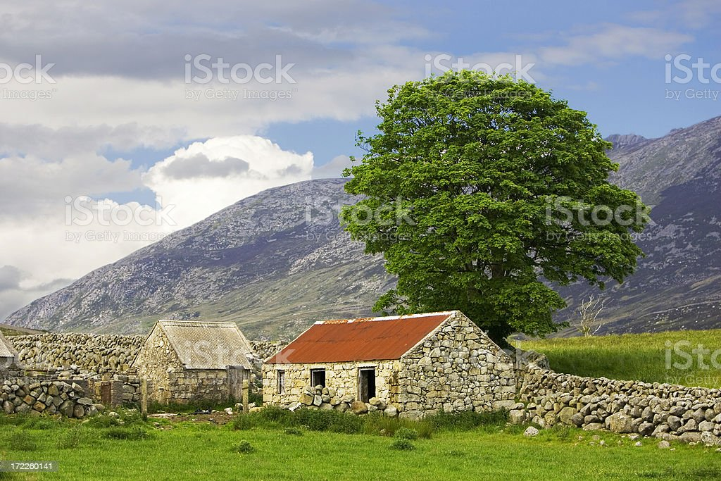Stone Barns in late afternoon royalty-free stock photo