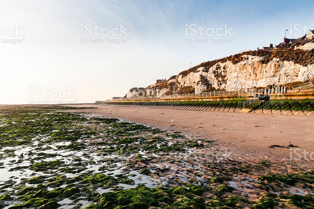 Stone Bay beach in Broadstairs, Thanet, Kent, England stock photo