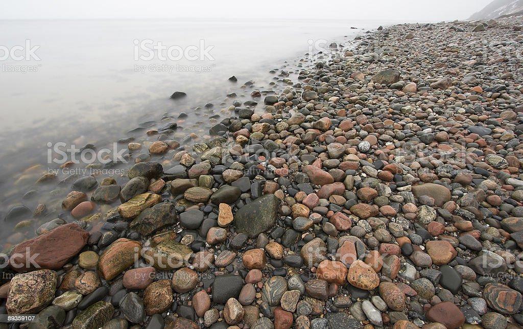 stone beach royalty free stockfoto