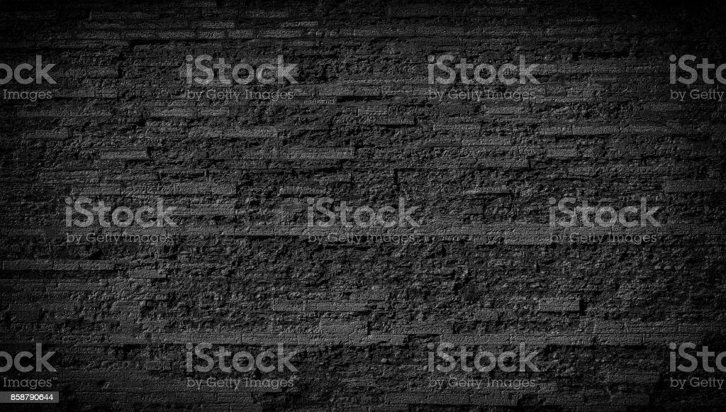 Stone black wall background stock photo