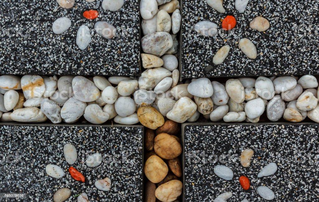 Stone block road pavement royalty-free stock photo