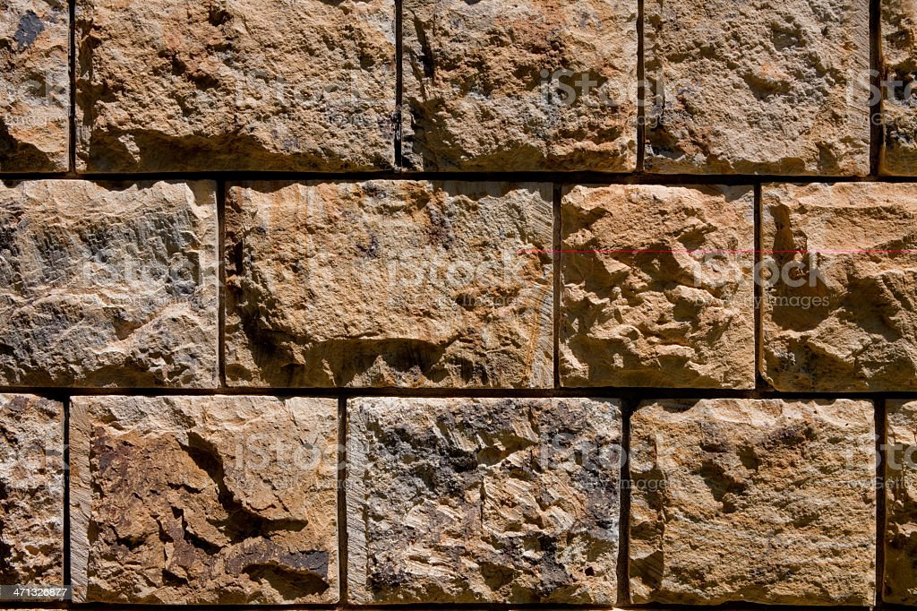 Stone Block Wall Background royalty-free stock photo