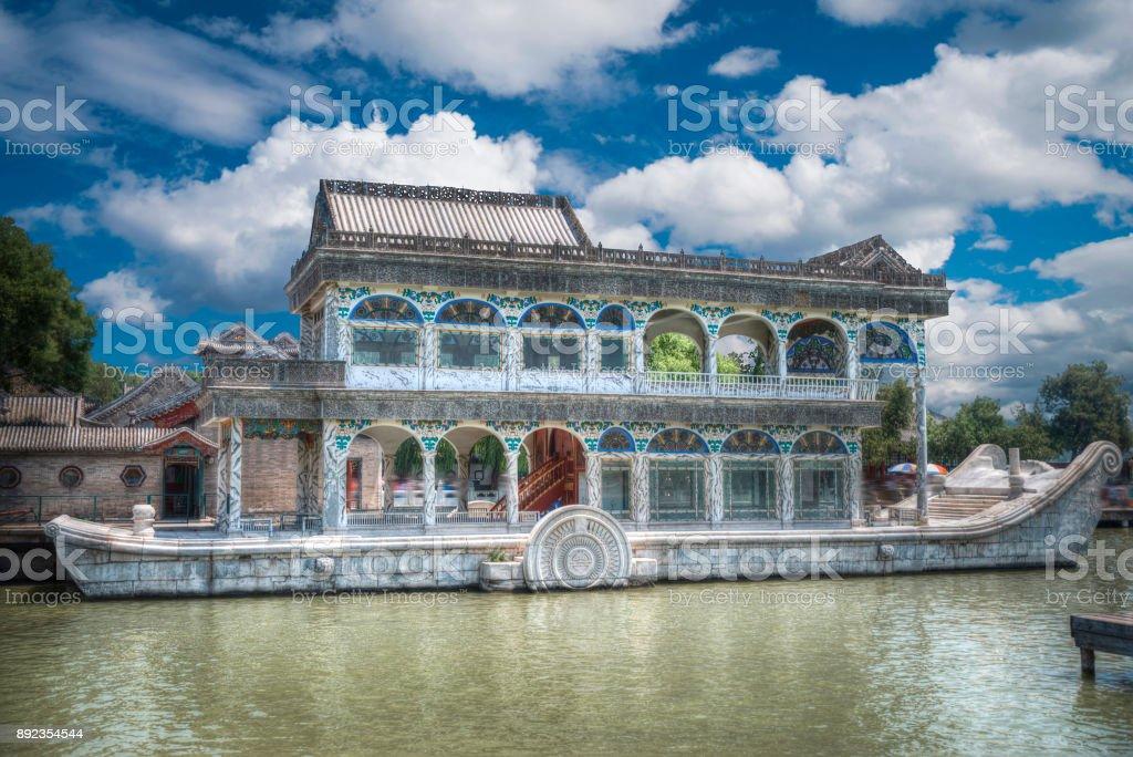 stone boat Beijing. stock photo