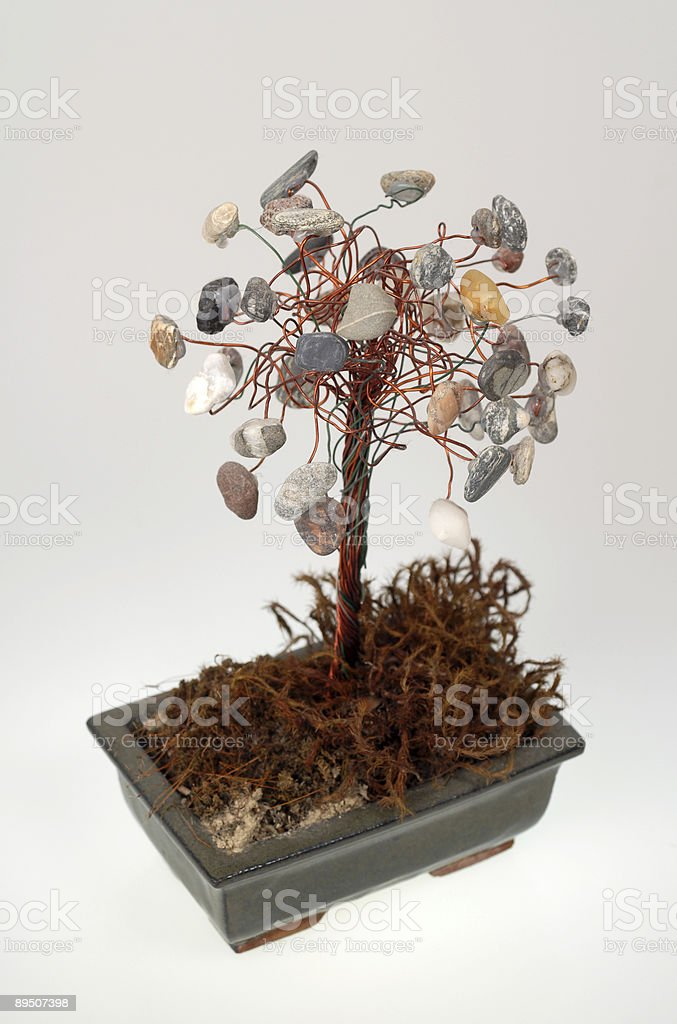 Stone bonsai royalty-free stock photo