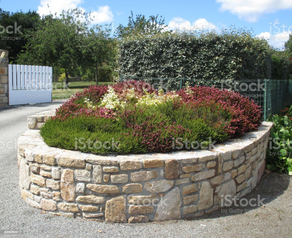 Image of: Stone Border Flower Bed Outdoor Decoration Garden Stock Photo Download Image Now Istock