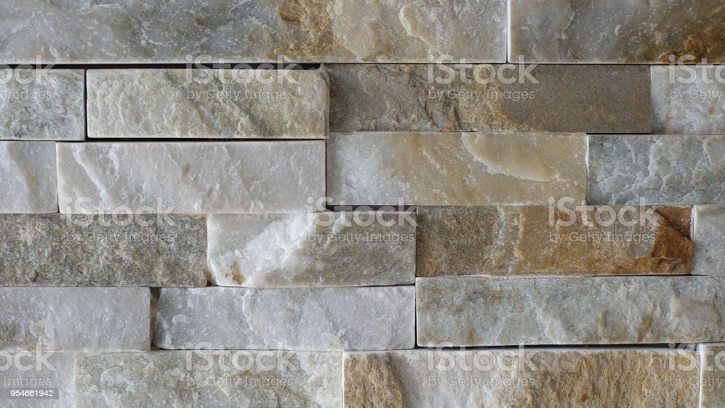 Decoratie Aan De Muur Buiten.Stone Baksteen Muur Patroon Gelaagde Stapel Decoratie