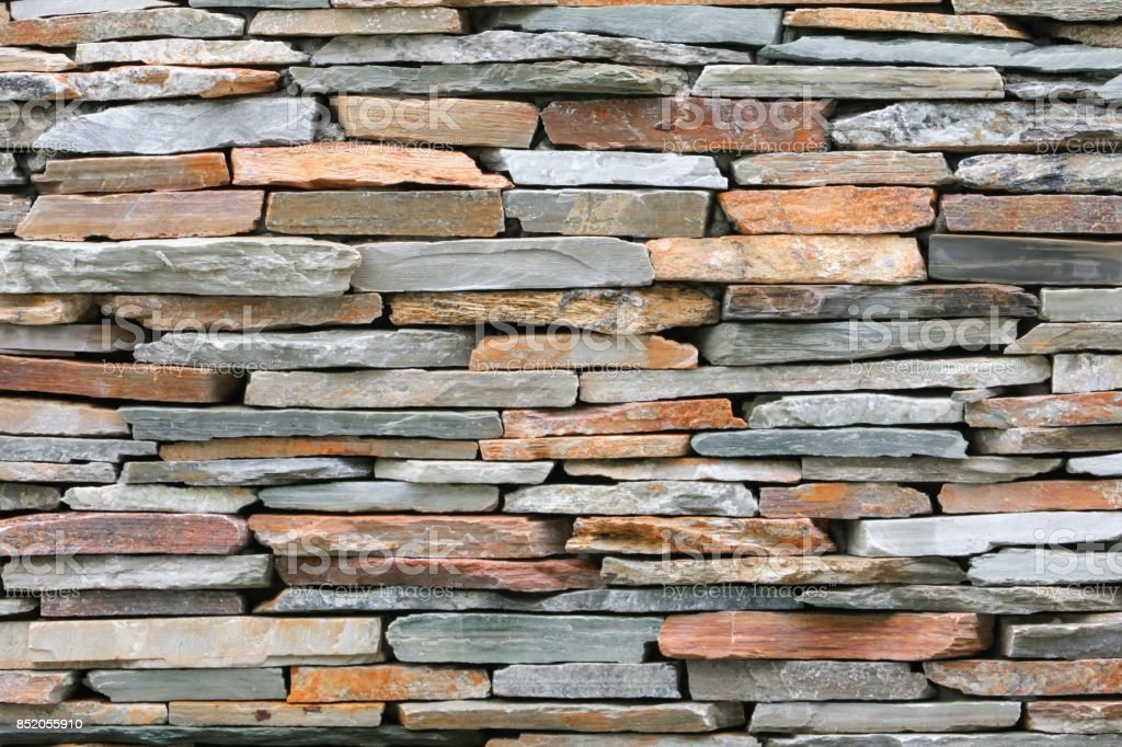stone brick wall texture, for background and space for add text stock photo