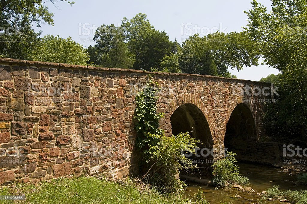 Stone Bridge at Battlefields of Manassas stock photo