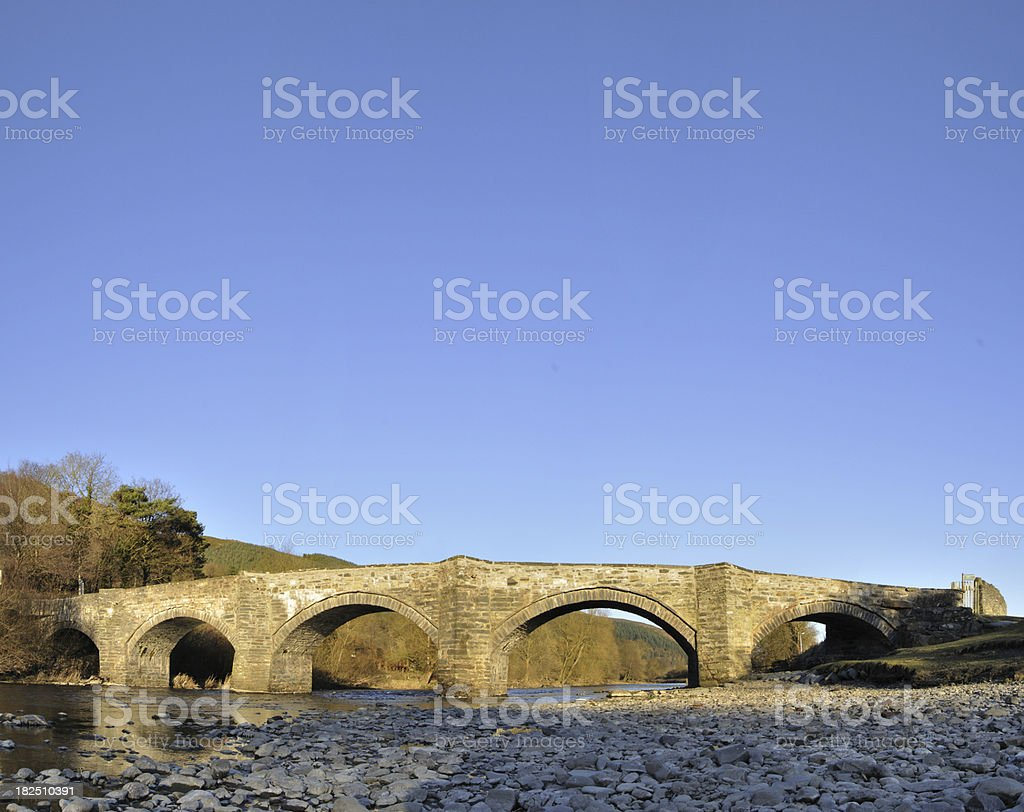 Stone Bridge at Carrog stock photo