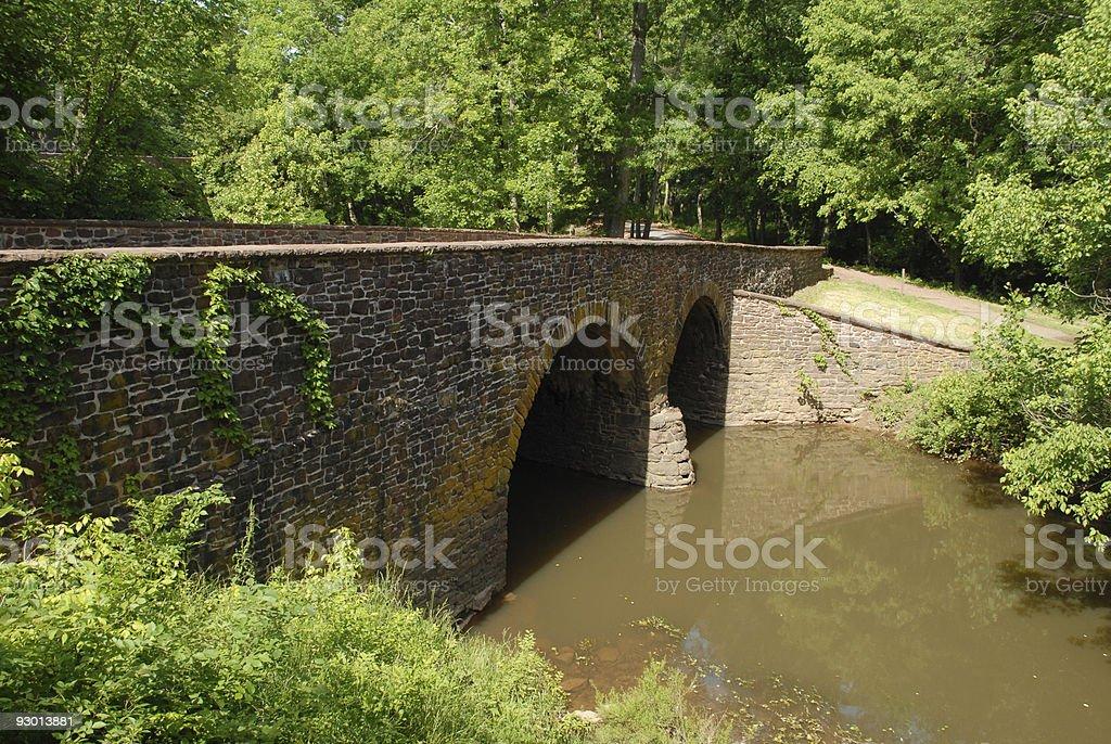 Stone Bridge at Manassas stock photo