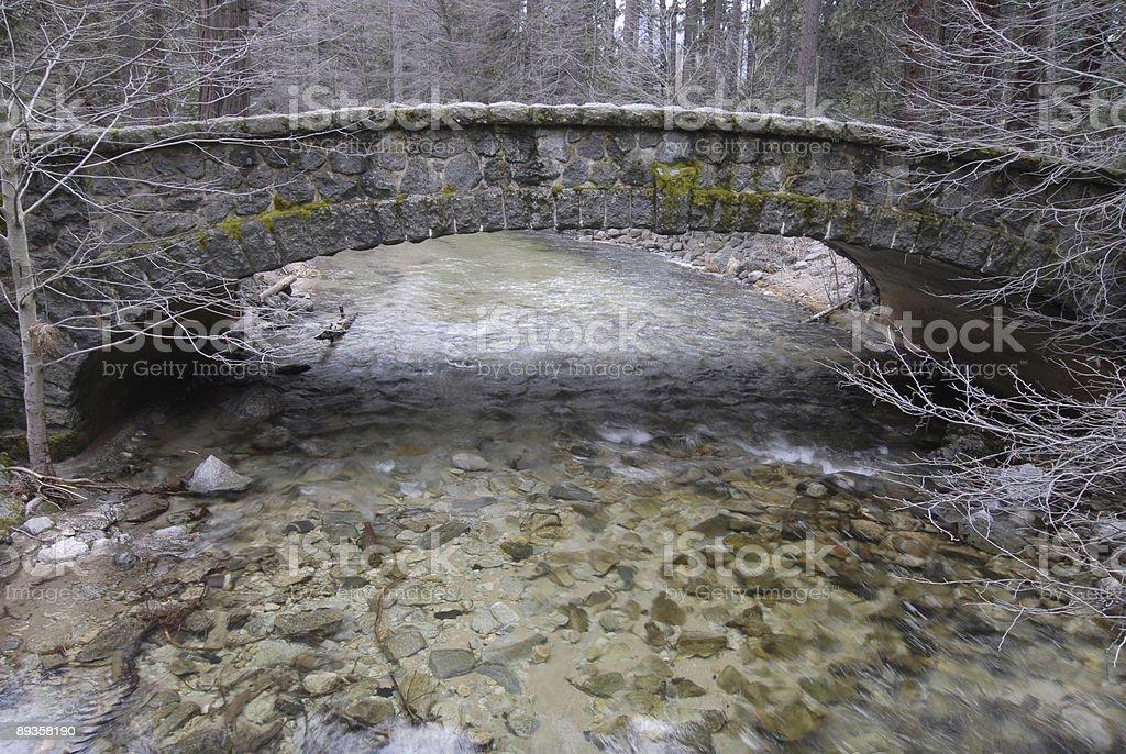 Stone Bridge at Yosemite royaltyfri bildbanksbilder