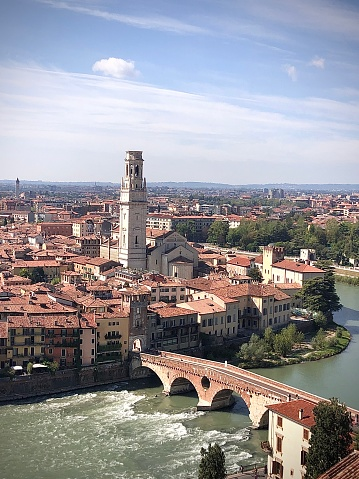 Ponte pietra in Verona city