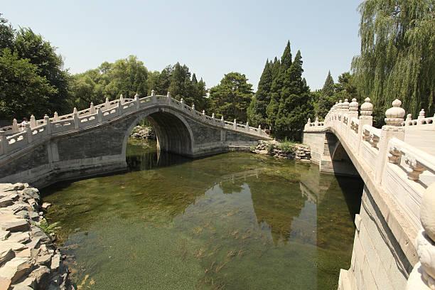 Stone bridge in China stock photo