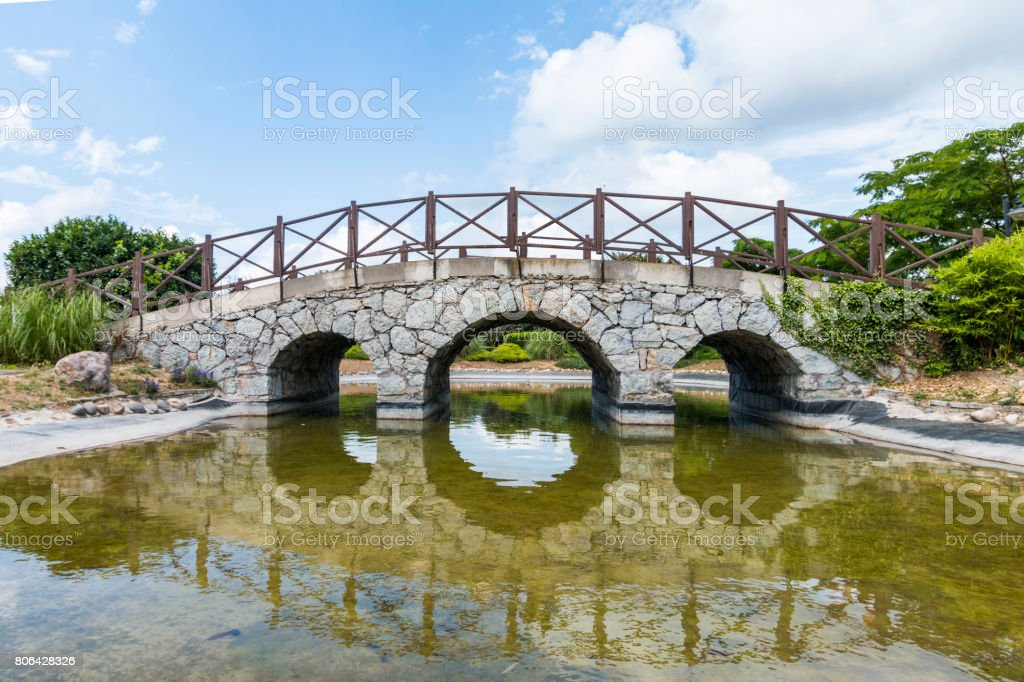 Stone bridge in otagtepe, istanbul ISTANBUL, TURKEY, JUNE 18 2017 stock photo