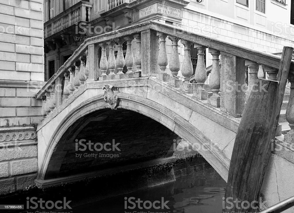 Stone bridge in Venice, Italy stock photo