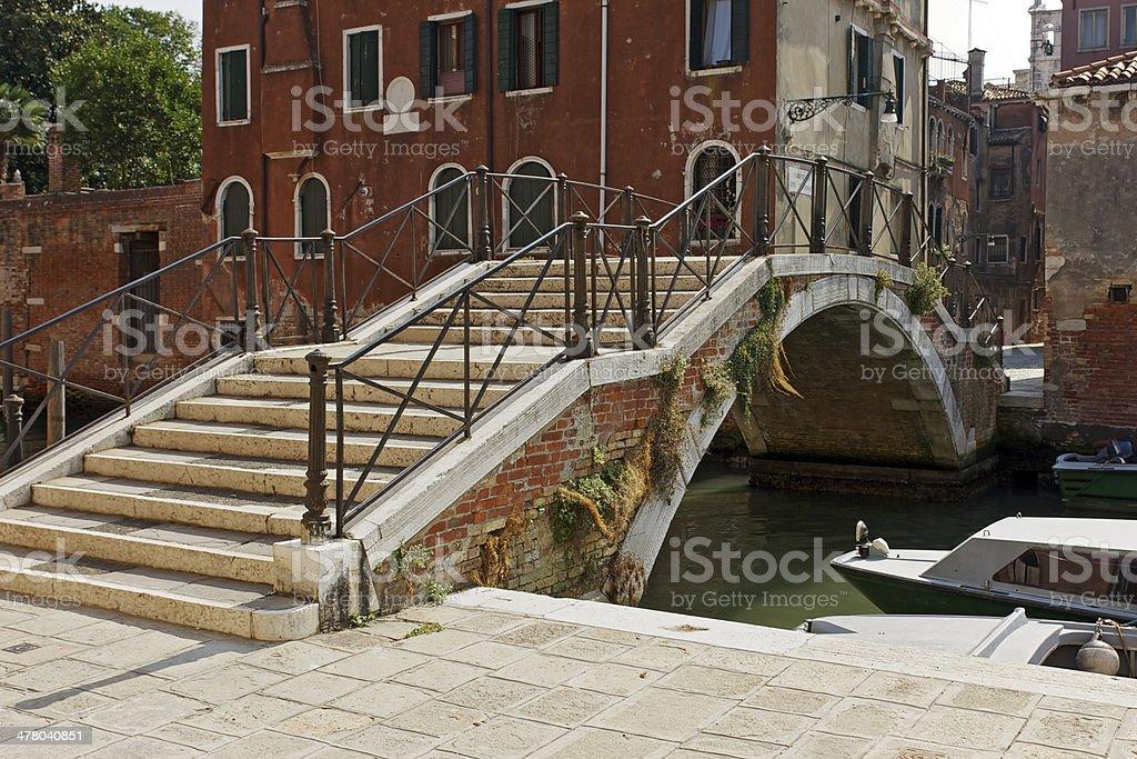 Stone bridge in Venice-Italy. royalty-free stock photo