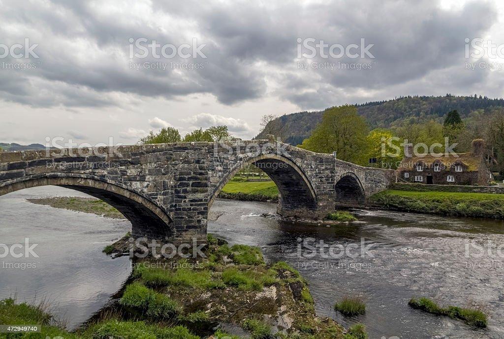 Stone Bridge Llanrwst stock photo