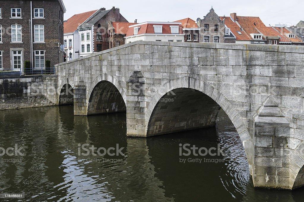 steinbrücke über rur in roermond stock photo