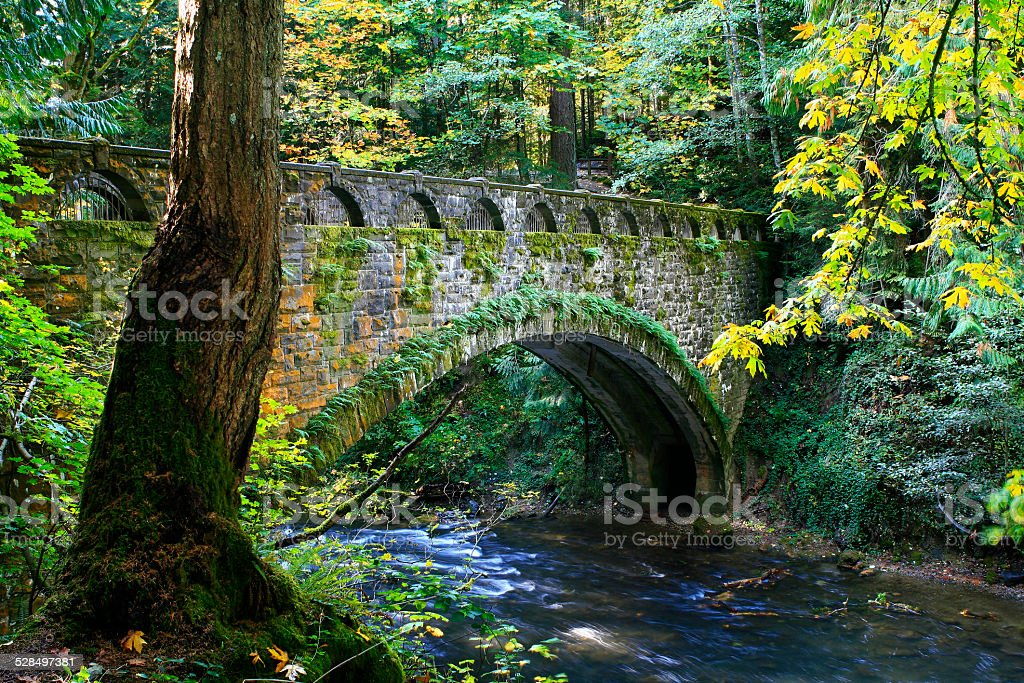 stone bridge stock photo
