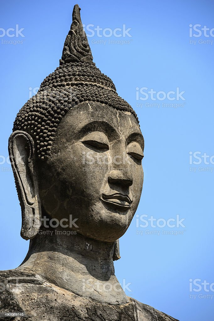 Stone Buddha royalty-free stock photo
