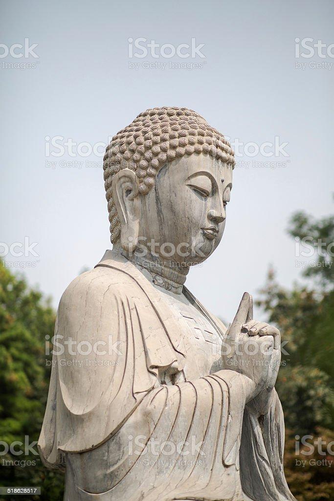 Stone Buddha stock photo