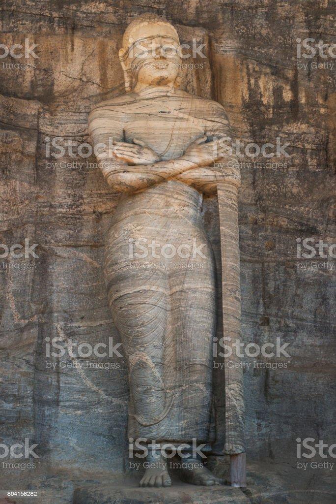 Stone Buddha royalty-free stock photo
