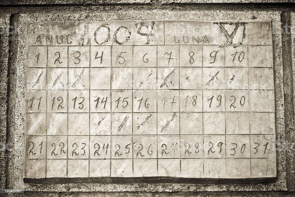 stone calendar royalty-free stock photo