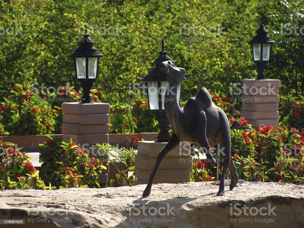 stone camel in garden royalty-free stock photo