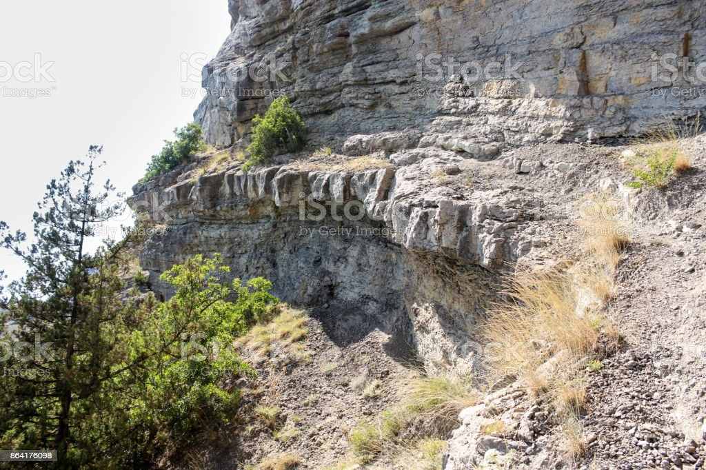 Stone canopy on the rock. royalty-free stock photo