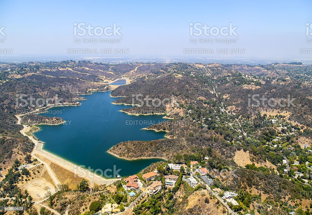 Stone Canyon Reservoir stock photo