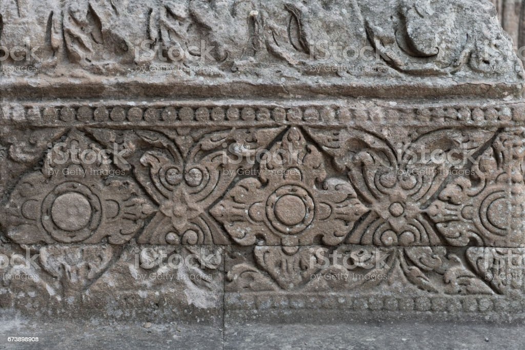 stone carving of the Phanom Rung temple photo libre de droits