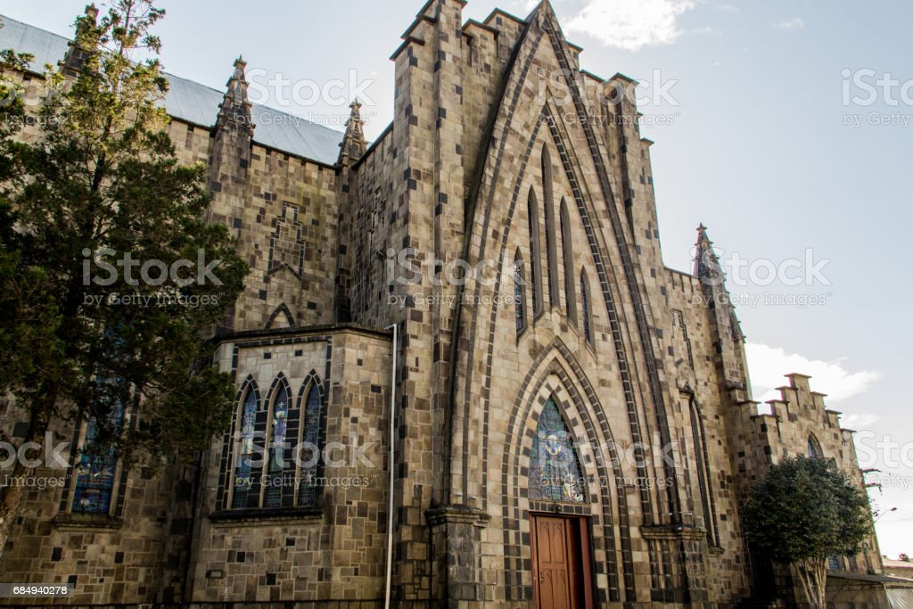 Stone Cathedral at Canela City in South Brazil. Catedral de Pedra. stock photo