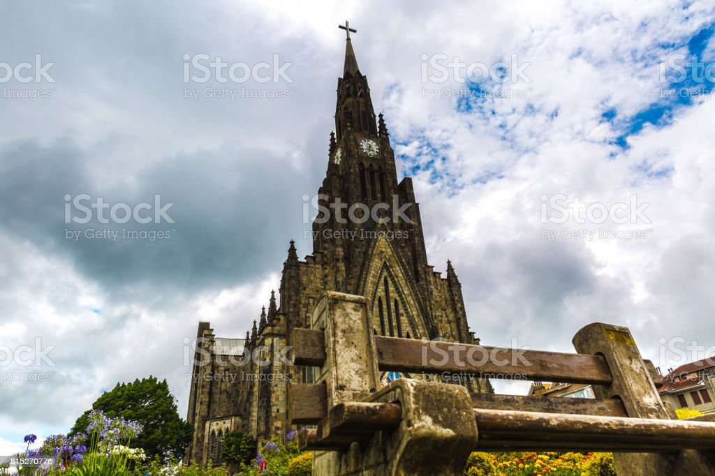 Stone Cathedral at Canela City in South Brazil (Catedral de Pedra) stock photo