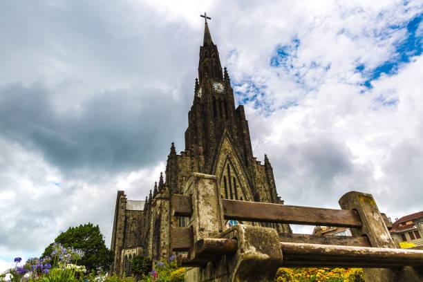 catedral de pedra em canela cidade no sul do brasil (catedral de pedra) - rio grande do sul - fotografias e filmes do acervo