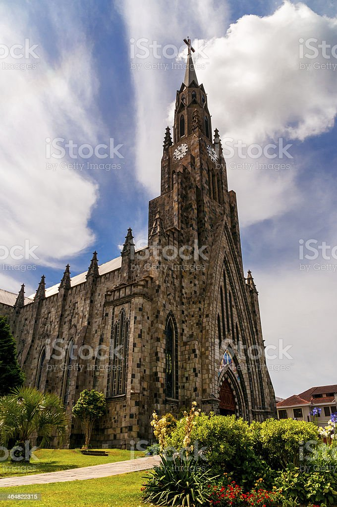 Stone Cathedral stock photo