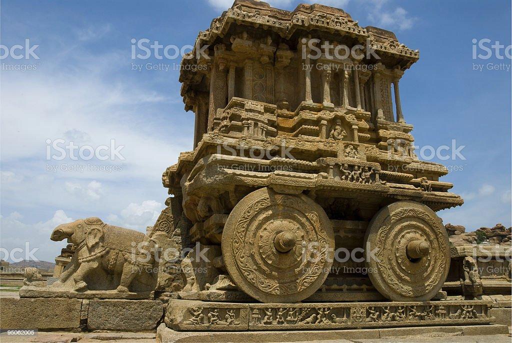 Stone chariot, Hampi stock photo