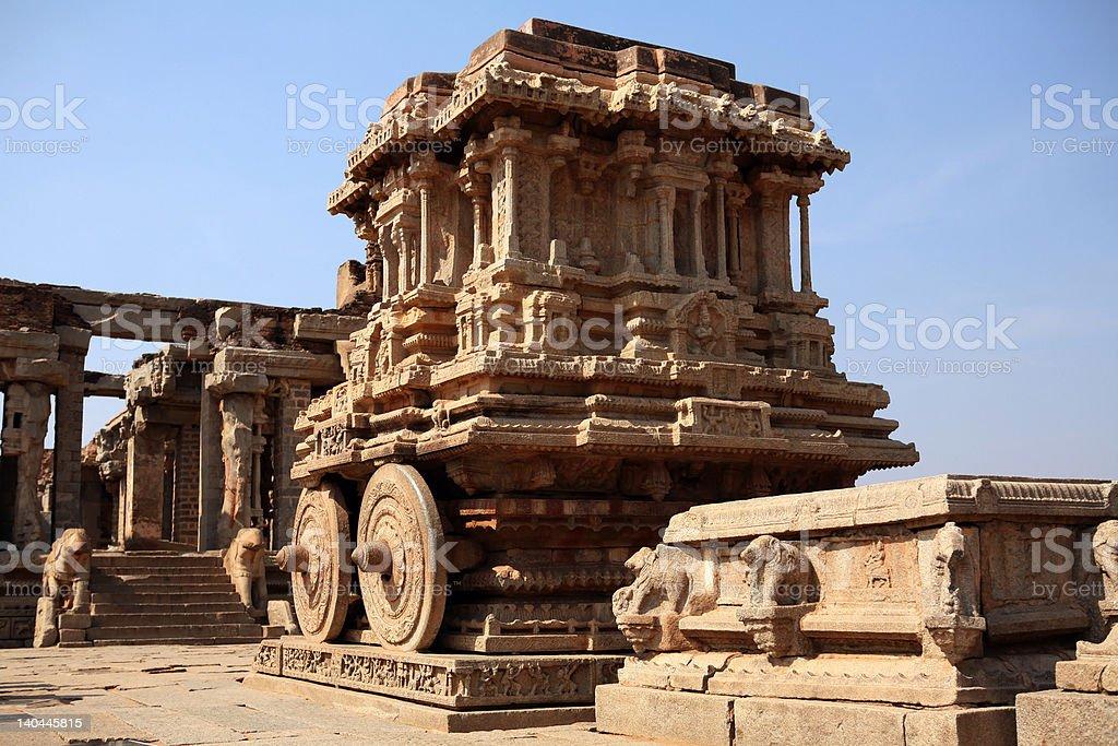Stone chariot of Hampi stock photo