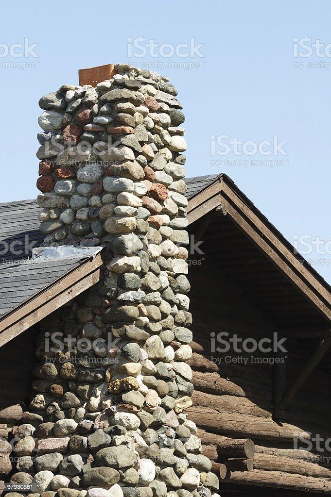 Stone Chimney royalty-free stock photo