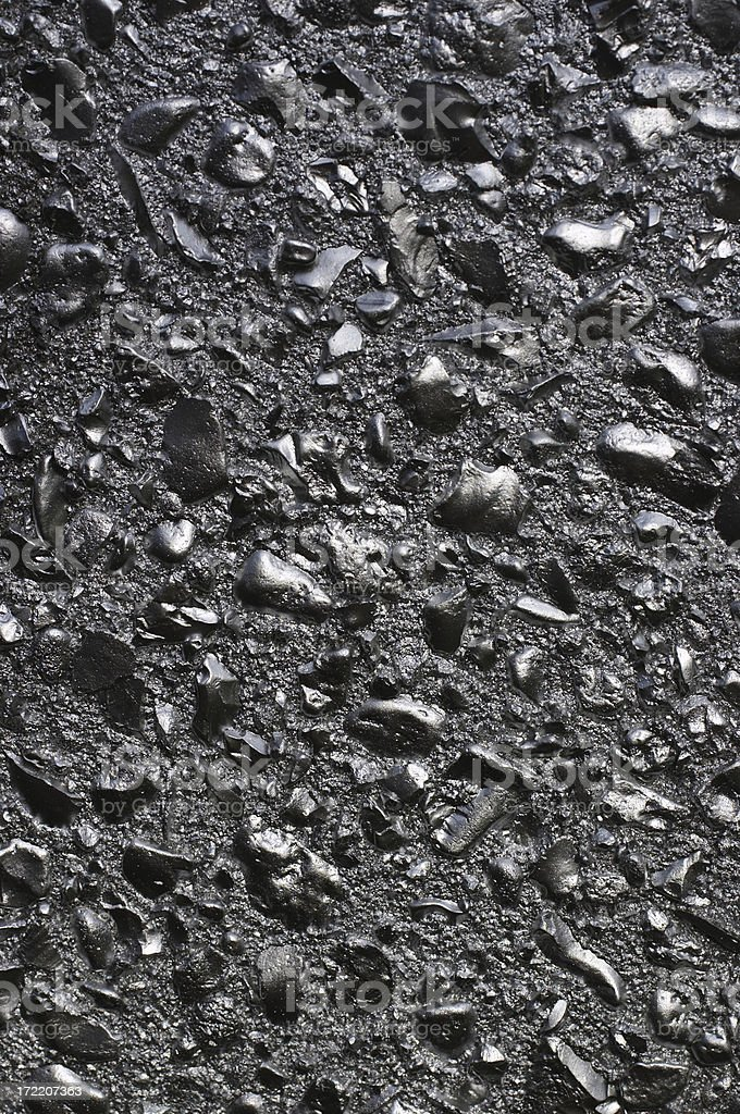 Silver effect of graffiti paint on stone chips stock photo