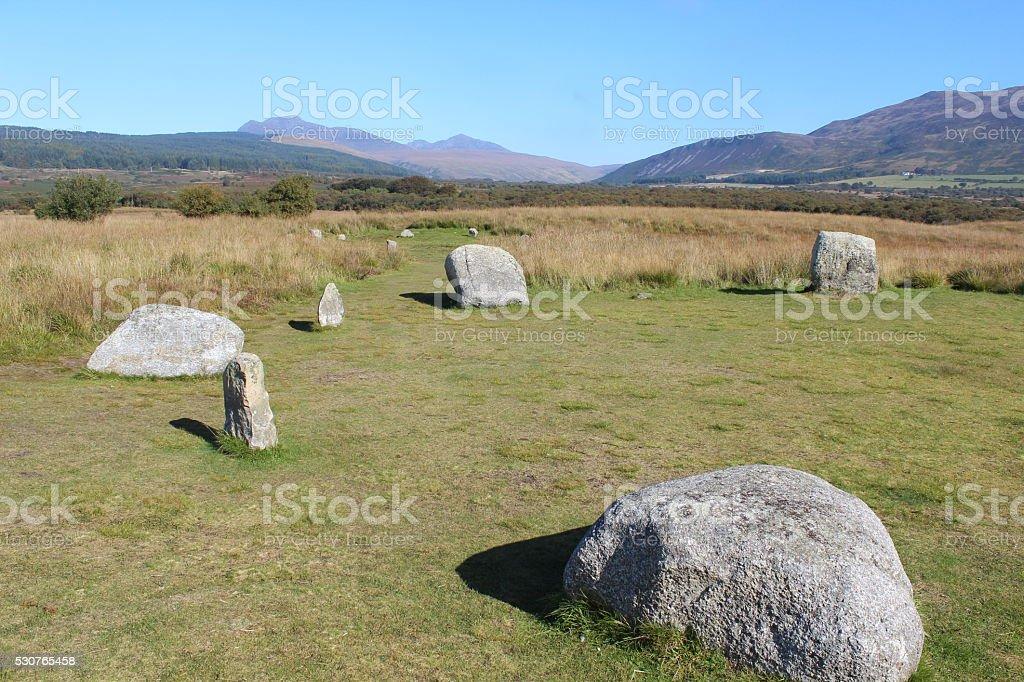 Stone Circle in Scotland royalty-free stock photo