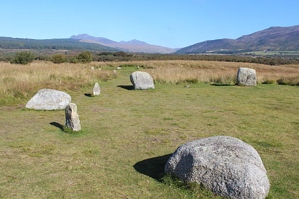 Stone Circle in Scotland stock photo