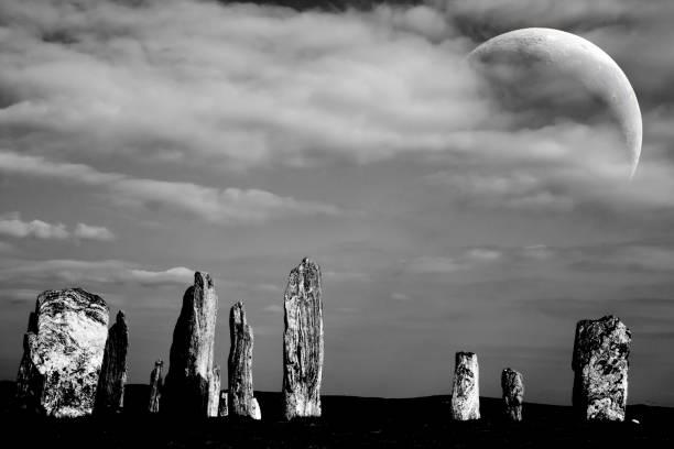 Steinkreis & Mond – Foto